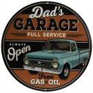 Dad's Garage Full Service Mirror Sign 14x14