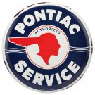 Pontiac Service Mirror Sign 14x14