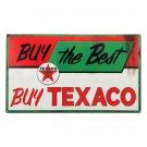 Texaco Oil Buy The Best Service Mirror Sign 14x14