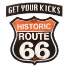 Route 66 Get Your Kicks Mirror Sign 14x14