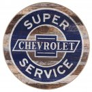 Super Chevrolet Service  Mirror Sign 14x14