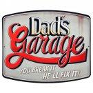 Dad's Garage Mirror Sign 14x14