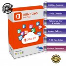 Microsoft Office 365 Pro Plus Lifetime Custom Account + 5TB OneDrive (Windows - MAC - Mobile)