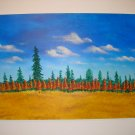 Duane Cash Acrylic Painting 24 x 36 - Original Trees Art