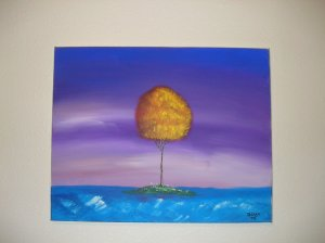 Duane Cash Acrylic Painting 16 x 20 - Original Tree Art