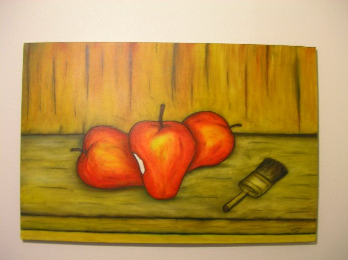 Duane Cash Oil Painting 24 x 36 - Original Apples Art