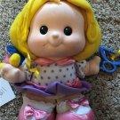 Vintage Rare 1990 Fisher Price Little People Stuffed Sara Doll Blond Girl Bird