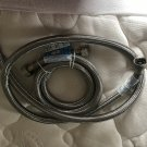 """2 Fluidmaster Washing Machine HE 3/4"""" hose fitting 60"""" length Stainless Steel"""