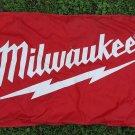 "Milwaukee Tools Double Sided Nylon Flag 56"" x 34"" Heavy Duty Construction Site"