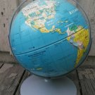 """Vintage Nystrom Dual Rotating Axis Readiness Globe 12"""" Raised Relief 1998"""