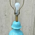 Frederick Cooper Lamp Mid Century Blue Ceramic Ginger Jar Three Way Table Lamp