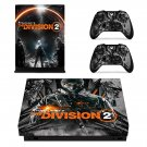 The Division 2 decal skin for Xbox one X Console & Controllers