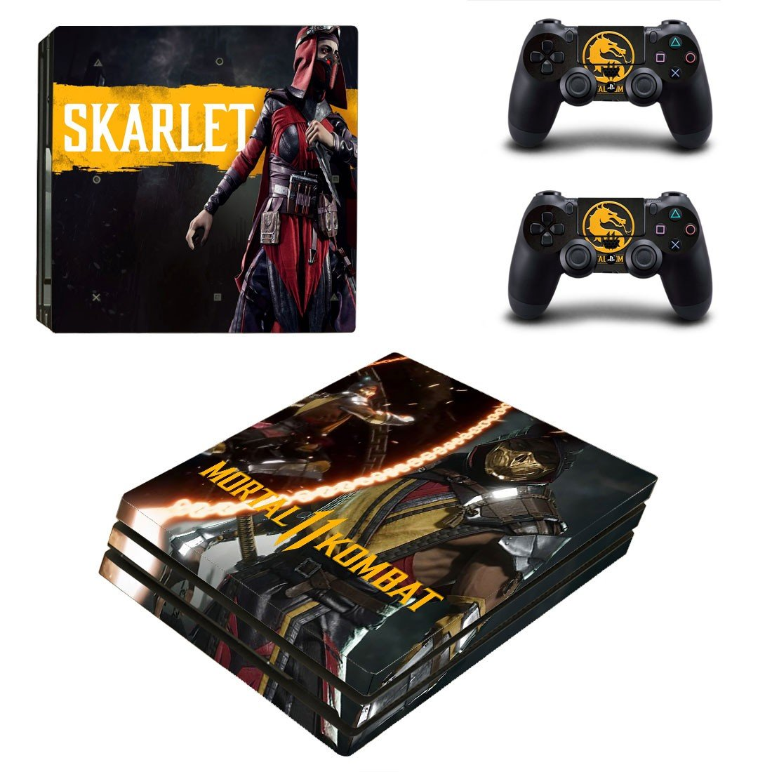 Mortal Kombat 11 decal skin for PS4 Pro Console & Controllers