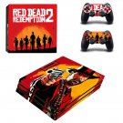 Red Dead Redemption 2 decal skin for PS4 Pro Console & Controllers