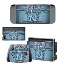 North Carolina Tar Heels decal skin for Nintendo Switch Console & Controllers