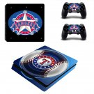 Texas Rangers decal skin for PS4 Slim Console & Controllers