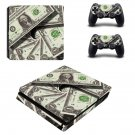 US dollars decal skin for PS4 Slim Console & Controllers