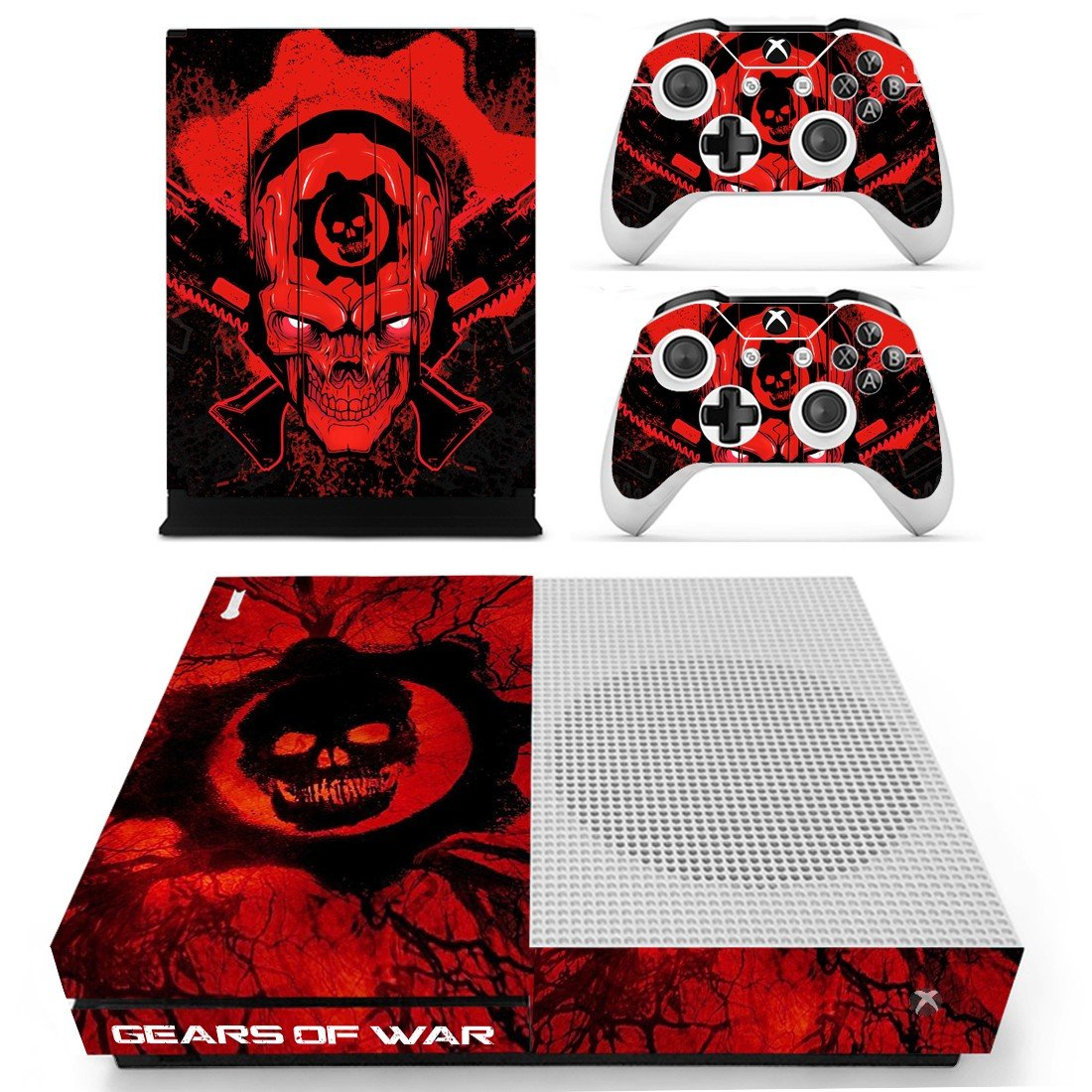 Gears of War decal skin for Xbox One S console and controllers
