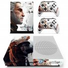The Witcher wild Hunt decal skin for Xbox One S console and controllers