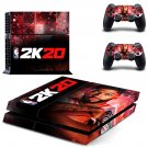 NBA 2K20 decal skin for PlayStation 4 Console & Controllers