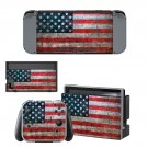 USA Flag decal skin for Nintendo Switch Console & Controllers