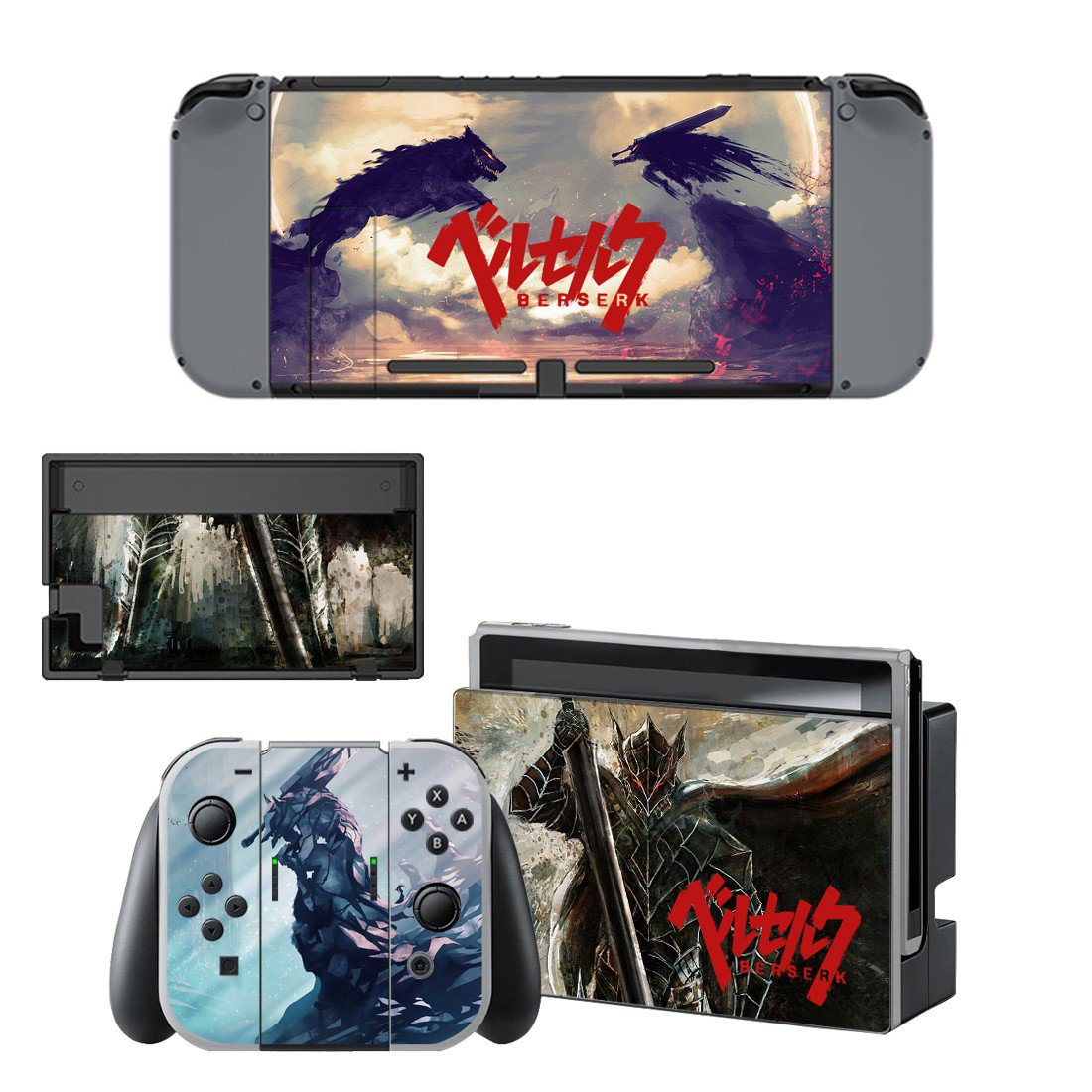 Berserk decal skin for Nintendo Switch Console & Controllers