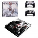 God of War decal skin for PS4 Slim Console & Controllers