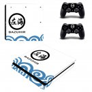 Bazuhir decal skin for PS4 Slim Console & Controllers