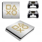Game Pad abstraction decal skin for PS4 Slim Console & Controllers