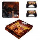 Doom Eternal decal skin for PS4 Slim Console & Controllers