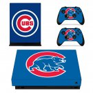 Chicago Cubs decal skin for Xbox one X Console & Controllers
