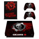 Gears 5 decal skin for Xbox one X Console & Controllers