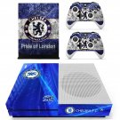 Chelsea FC decal skin for Xbox One S console and controllers