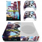 Cyberpunk 2077 decal skin for Xbox one S Console & Controllers