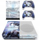 Monster Hunter World iceborne decal skin for Xbox one S Console & Controllers