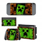 Minecraft decal skin for Nintendo Switch Console & Controllers