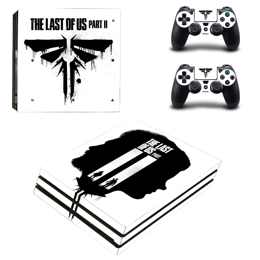 The Last of us 2 decal skin for PS4 Pro Console & Controllers