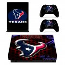 Houston Texans decal skin for Xbox one X Console & Controllers