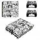 Anime Ahegao Girl decal skin for PS4 Pro Console & Controllers
