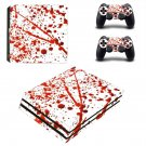 Blood drops decal skin for PS4 Pro Console & Controllers