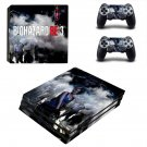 Biohazard RE3 decal skin for PS4 Pro Console & Controllers