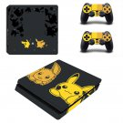 Pokemon Pikachu decal skin for PS4 Slim Console & Controllers