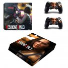 Resident Evil 3 decal skin for PS4 Slim Console & Controllers