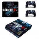 Biohazard RE3 decal skin for PS4 Slim Console & Controllers