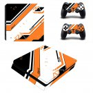 Asiimov warning decal skin for PS4 Slim Console & Controllers