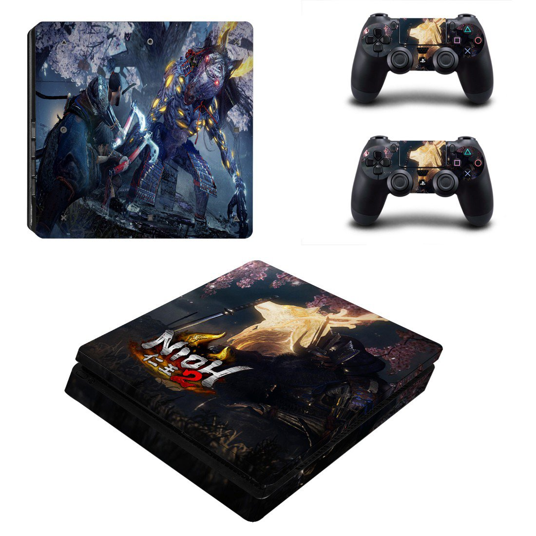 Nioh 2 decal skin for PS4 Slim Console & Controllers