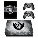Oakland Raiders decal skin for Xbox one X Console & Controllers