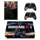 Biohazard RE3 decal skin for Xbox one X Console & Controllers
