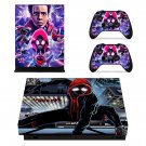 Spider Verse decal skin for Xbox one X Console & Controllers