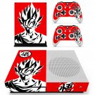 Dragon ball black and white decal skin for Xbox one S Console & Controllers